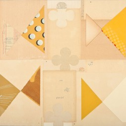 Four Square - mixed media collage on panel, 21 x 24 inches, 2010