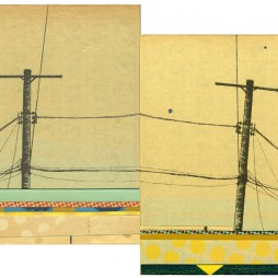 North Alvarado no.1 - mixe media collage on panel 5 x 12 inches, 2009 // SOLD