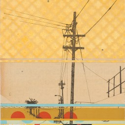 North Alvarado no.2 - mixed media collage on panel