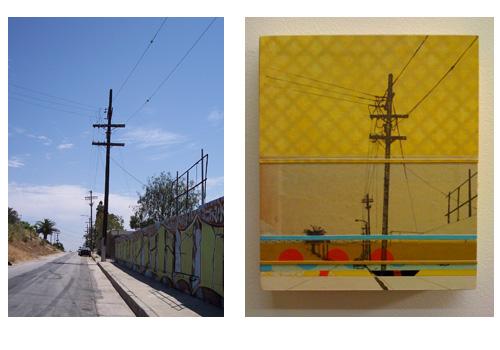 North Alvarado no.2 and original photo - side by side comparison of original photo and how it is used in a collage