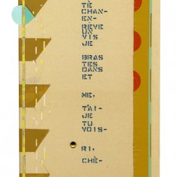 Untitled (Between Us) - mixed media collage on panel, 9 x 6 inches, 2011