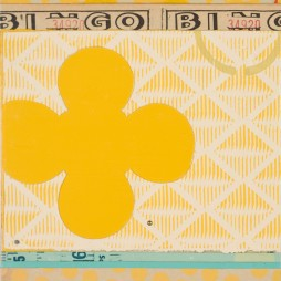 Bingo - mixed media collage on panel, 7.75 x 6.5 inches, 2009 // SOLD