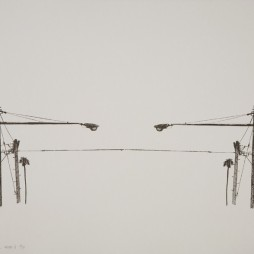 Manchester Double, State II - screenprint on paper, 30 x 22 inches, edition of 10, 2010