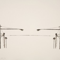 Manchester Double, State I - screenprint on paper, 30 x 22 inches, edition of 10, 2010