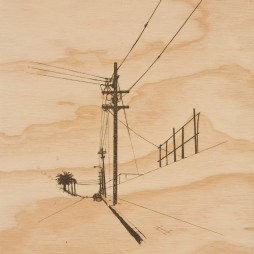 North Alvarado, study 1 - screenprint on wood, 1/1, 2009
