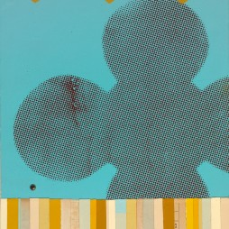 Pull Push, no.1 - mixed media collage on panel, 10.5 x 13.5 inches, 2008 // SOLD