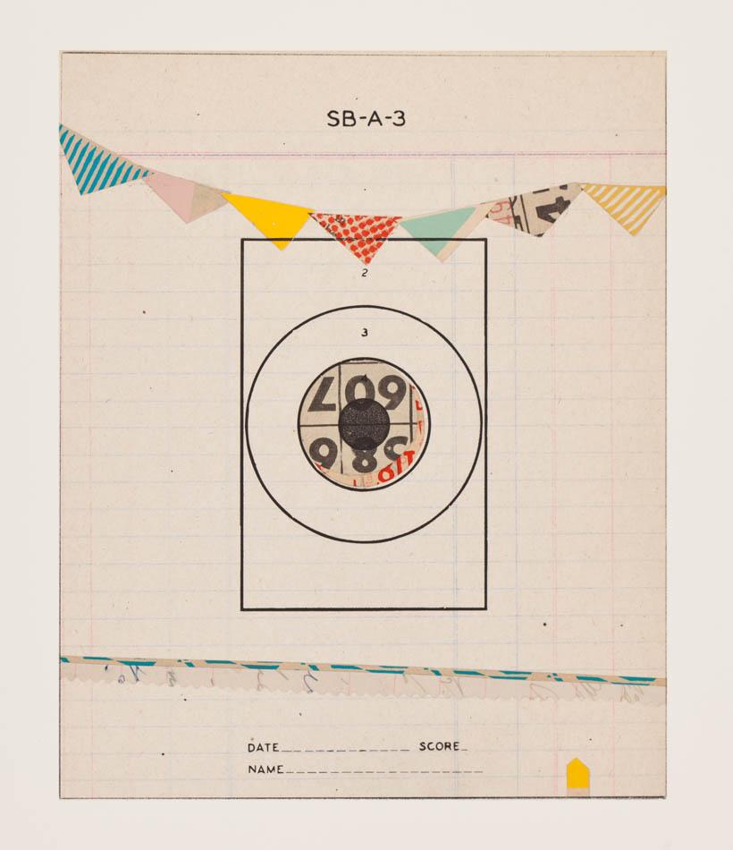 Reveille Series, no.4 - monoprint on paper, 2012