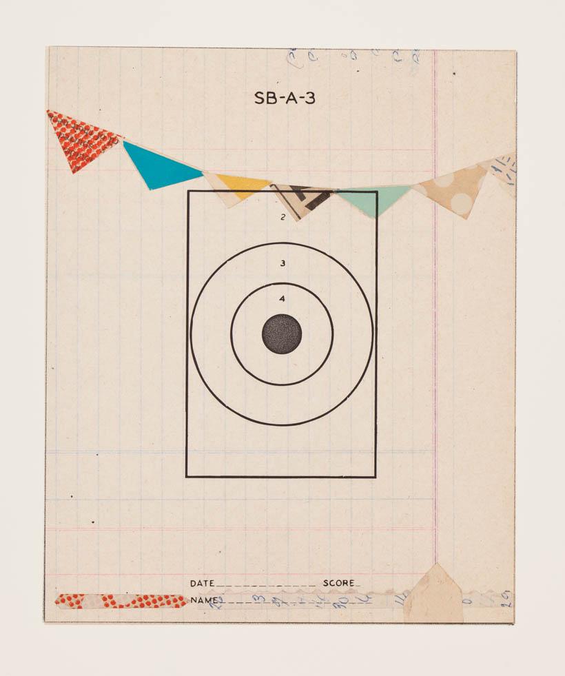 Reveille Series, no.12 - monoprint on paper, 18 x 14 paper size, 8 x 6 image, 2012
