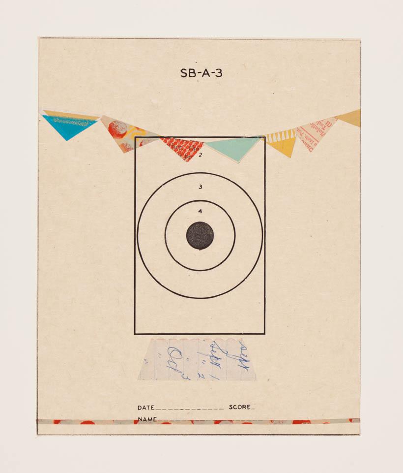 Reveille Sereis, no.14 - monoprint on paper, 18 x 14 paper size, 8 x 6 image, 2012
