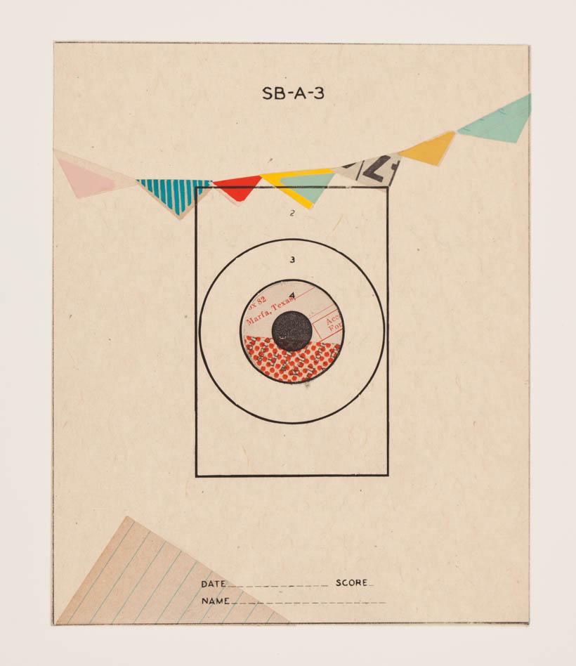 Reveille Series, no.15 - monoprint on paper, 18 x 14 paper size, 8 x 6 image, 2012 SOLD