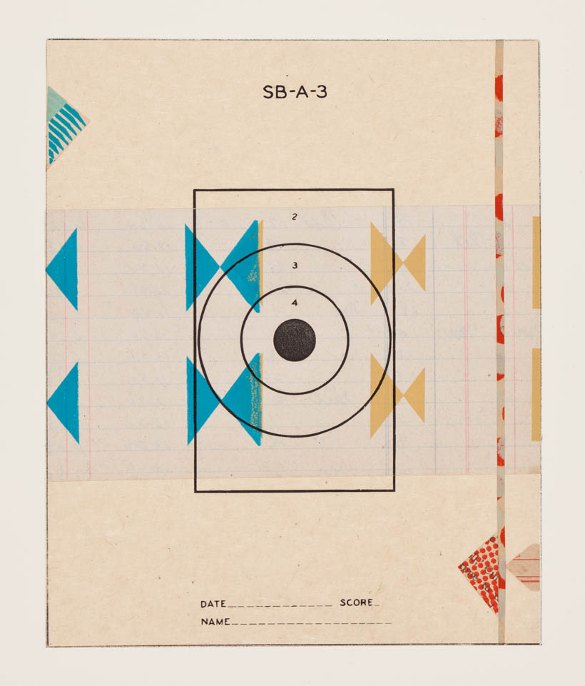Reveille Series, no.16 - monoprint on paper, 18 x 14 paper size, 8 x 6 image, 2012